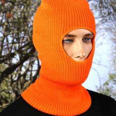 Eengaats bivakmuts oranje