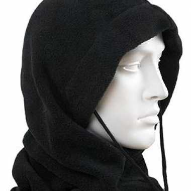 Zwarte fleece bivakmutsen